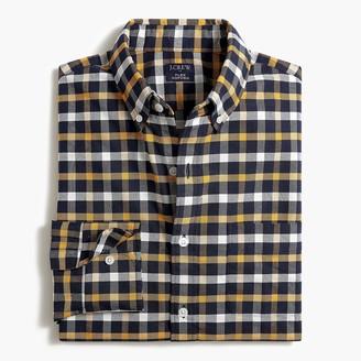 J.Crew Plaid regular flex oxford shirt