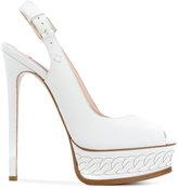 Casadei slingback platform sandals - women - Calf Leather/Leather/Kid Leather - 35