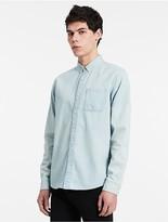 Calvin Klein Jeans Slim Fit Indigo Chambray Shirt