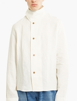 J.w. Anderson Off-white Asymmetric Linen Shirt