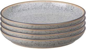Denby Studio Grey Stoneware 4-Piece Coupe Tea Plate Set
