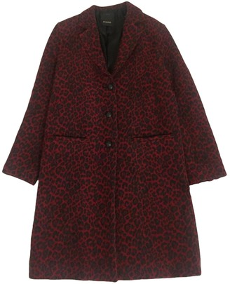 Pinko Red Wool Coat for Women