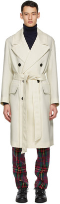 Ami Alexandre Mattiussi Off-White Wool Double-Breasted Coat