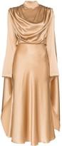 MATÉRIEL Draped Silk Dress