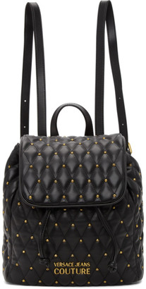 Versace Jeans Couture Black Quilted Backpack