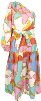 Rebecca Vallance Tirano one-shoulder dress