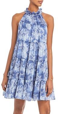 Aqua Mock Neck Printed Dress - 100% Exclusive