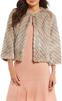 Alex Marie Waterson Striped Faux Fur Jacket
