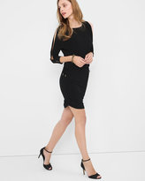 White House Black Market Dolman-Sleeve Black Blouson Dress