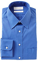 Roundtree & Yorke Gold Label Non-Iron Fitted Solid Classic-Fit Point-Collar Dress Shirt