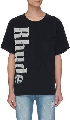 Rhude Washed logo print chest pocket T-shirt