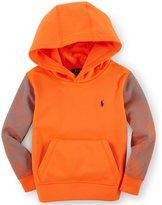 Polo Ralph Lauren Little Boys' Lightweight Tech Fleece Pullover Hoodie Orange