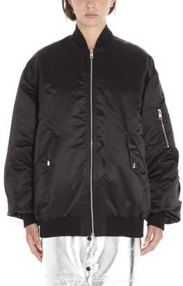 MSGM Logo Patches Oversize Bomber Jacket
