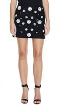 Tibi Shell Beading Mini Skirt