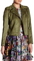 Catherine Malandrino Faux Suede Moto Jacket