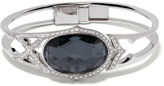 Stephen Webster 18kt white gold Crystal Haze Love diamond, quartz and hematite bangle