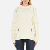 Belstaff Women's Karli Fringed Knitted Jumper Ivory