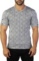 Maceoo Vivaldi V-Neck Stripe Print T-Shirt