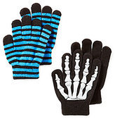 Class Club Boys Skeleton Printed Gripper Gloves