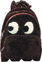 Anya Hindmarch Backpack Mini Ghost in Burgundy Shearling