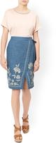 Monsoon Elodie Chambray Skirt
