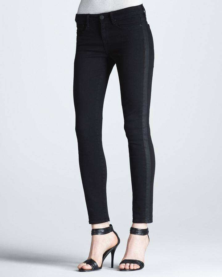 Vince Side-Stripe Ankle Jeans