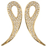 House Of Waris 18kt Gold Drop Spike Earrings With White Pavé Diamonds