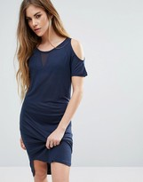 Noisy May Cold Shoulder T-Shirt Dress