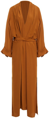 Rodebjer Mabelin Oversized Belted Cady Maxi Dress