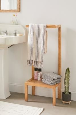Urban Outfitters Marte Bath Storage Shelf - Beige ALL at