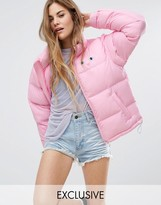 Lazy Oaf Padded Jacket With Cat Print