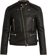 Lanvin Shearling-trimmed leather jacket