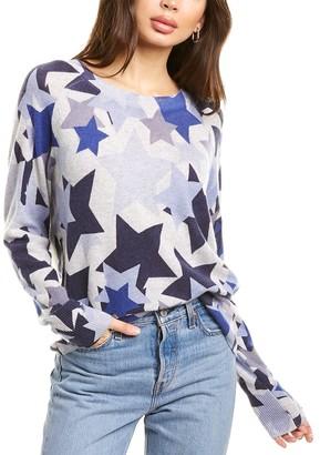 White + Warren Camo Stars Cashmere Sweater