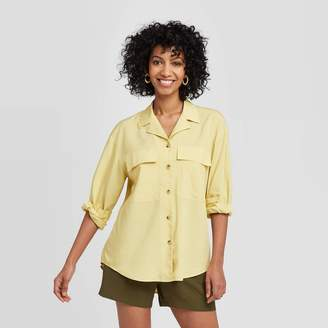 A New Day Women's Long Sleeve Button-Down Utility Top