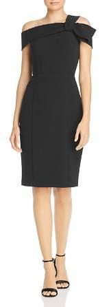 Eliza J Asymmetric Bow Shoulder Dress