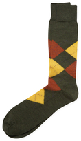 Brooks Brothers Wool Crew Argyle Socks