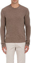 Boglioli Men's Rib-Knit Virgin Wool-Cashmere Sweater