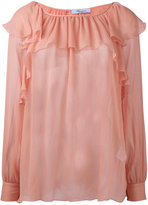 Blumarine ruffled sheer blouse - women - Silk - 42