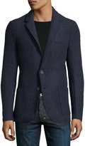 Neiman Marcus Wool-Blend Patch-Pocket Jacket