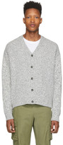 John Elliott Black and White Bavel Cardigan