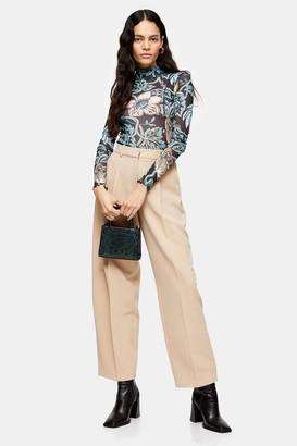 Topshop Womens Stone Elastic Back Trousers - Stone