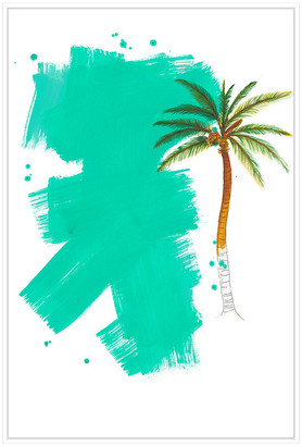 Jonathan Bass Studio Palm 4, Decorative Framed Hand Embellished Canvas