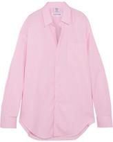 Vetements Comme Des Garçons Oversized Striped Cotton-poplin Shirt - Pink