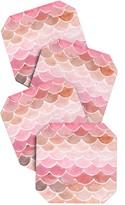 DENY Designs Wonder Forest Pink Mermaid Scales Coaster Set