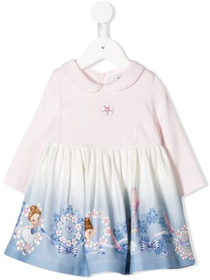 MonnaLisa Long-Sleeve Flared Dress
