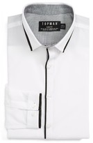Topman Men's Slim Fit Contrast Dress Shirt