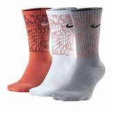 Nike Mens 3-pk. Dri-FIT Triple Fly Crew Socks