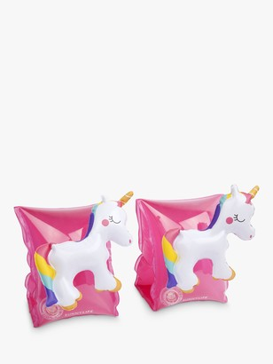 Sunnylife Sunnykids Children's Unicorn Float Bands, Pink/White