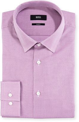 BOSS Men's Gingham Slim-Fit Dress Shirt
