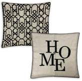 Bianca Home 20-Inch x 20-Inch Throw Pillow in Black (Set of 2)